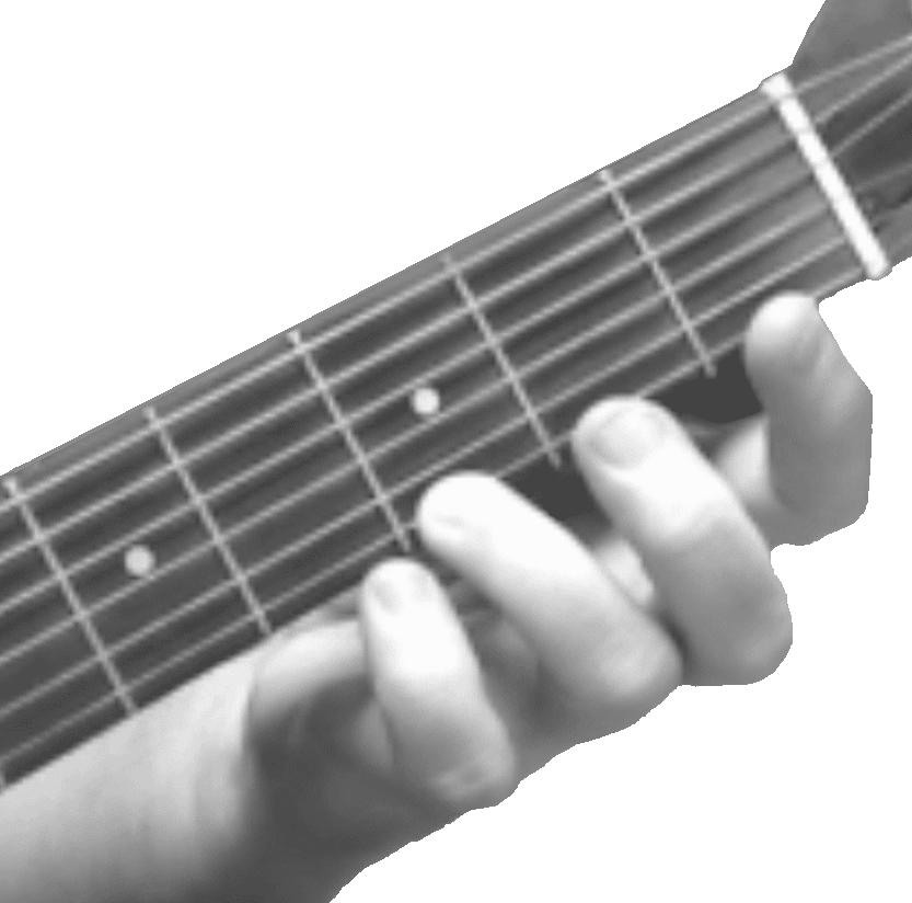Picture of Hand Fingering a G on the first string