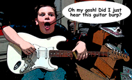 Rylan at JLA Music - Comic Version
